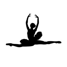 270x270 Ballerina Silhouette 02 Stencil Free Stencil Gallery