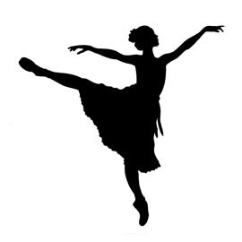 270x270 Ballerina Silhouette Stencil Free Stencil Gallery
