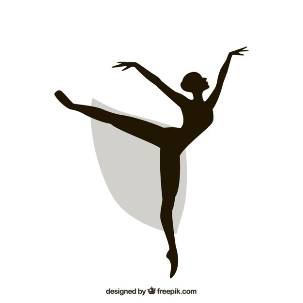 626x626 Ballerina Silhouette Vector Free Download