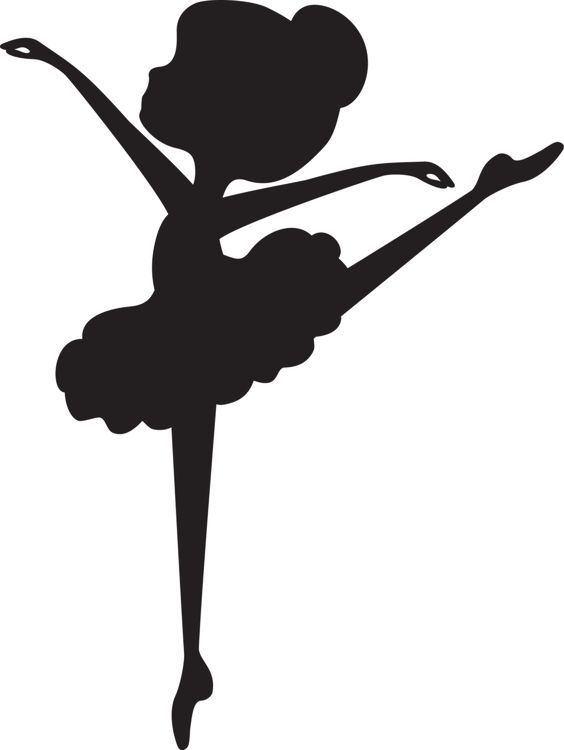 564x750 Cricut, Ballerina And Silhouettes