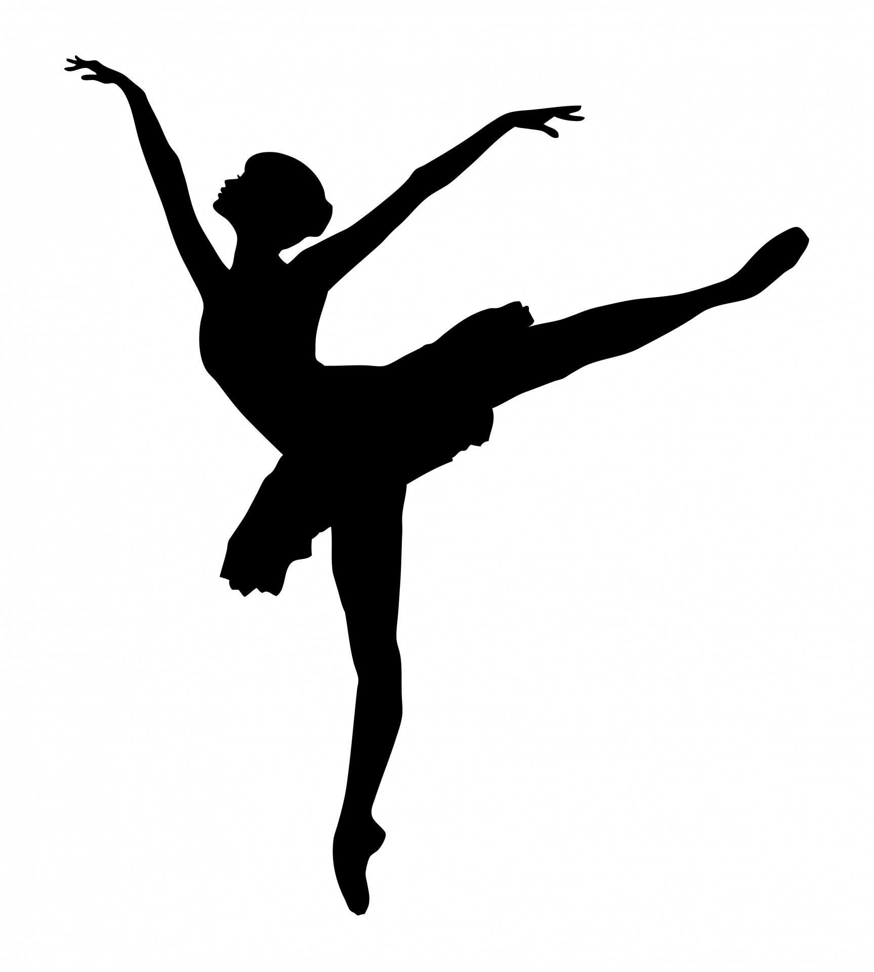 1727x1920 Ballet Dancer Silhouette Free Stock Photo