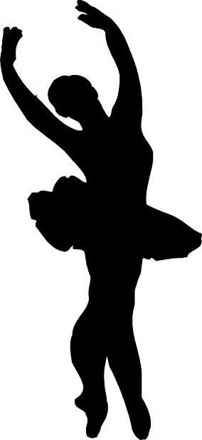 284x616 Ballet Dancer Silhouette Leap Clipart Panda