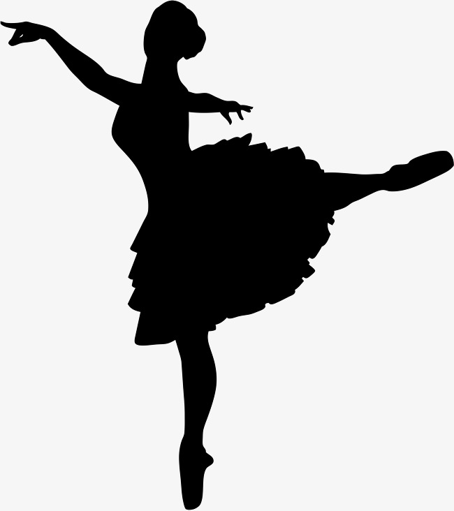 650x732 Ballet Dancing Silhouette, Ballet Action, Ballet Silhouette, Black