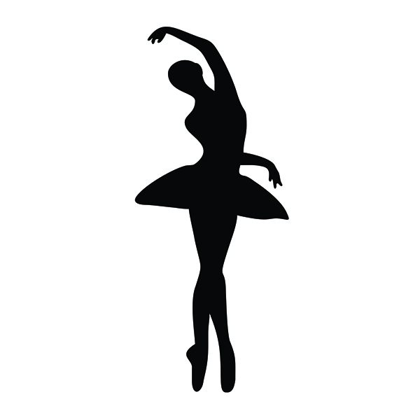 600x600 Creative Silhouettes Of Ballet Dancers Silhouette Cuttable Design