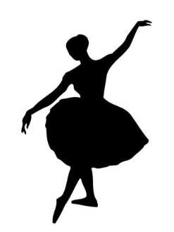 247x330 Ballet Dancer Silhouette Decal Sticker
