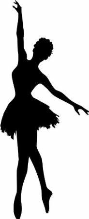 184x450 Woman Ballet Dance Silhouette Art Dance