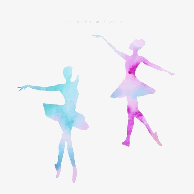 626x626 Silhouette Of Two Ballet, Dress, Ballet, Dance Png Image