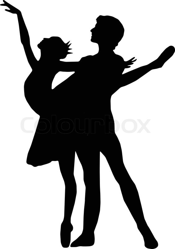 564x800 Wondrous Silhouettes Of Ballet Dancers Dance Girl And Boy Vector