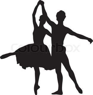 313x320 Ballet Silhouette Stock Vector Colourbox