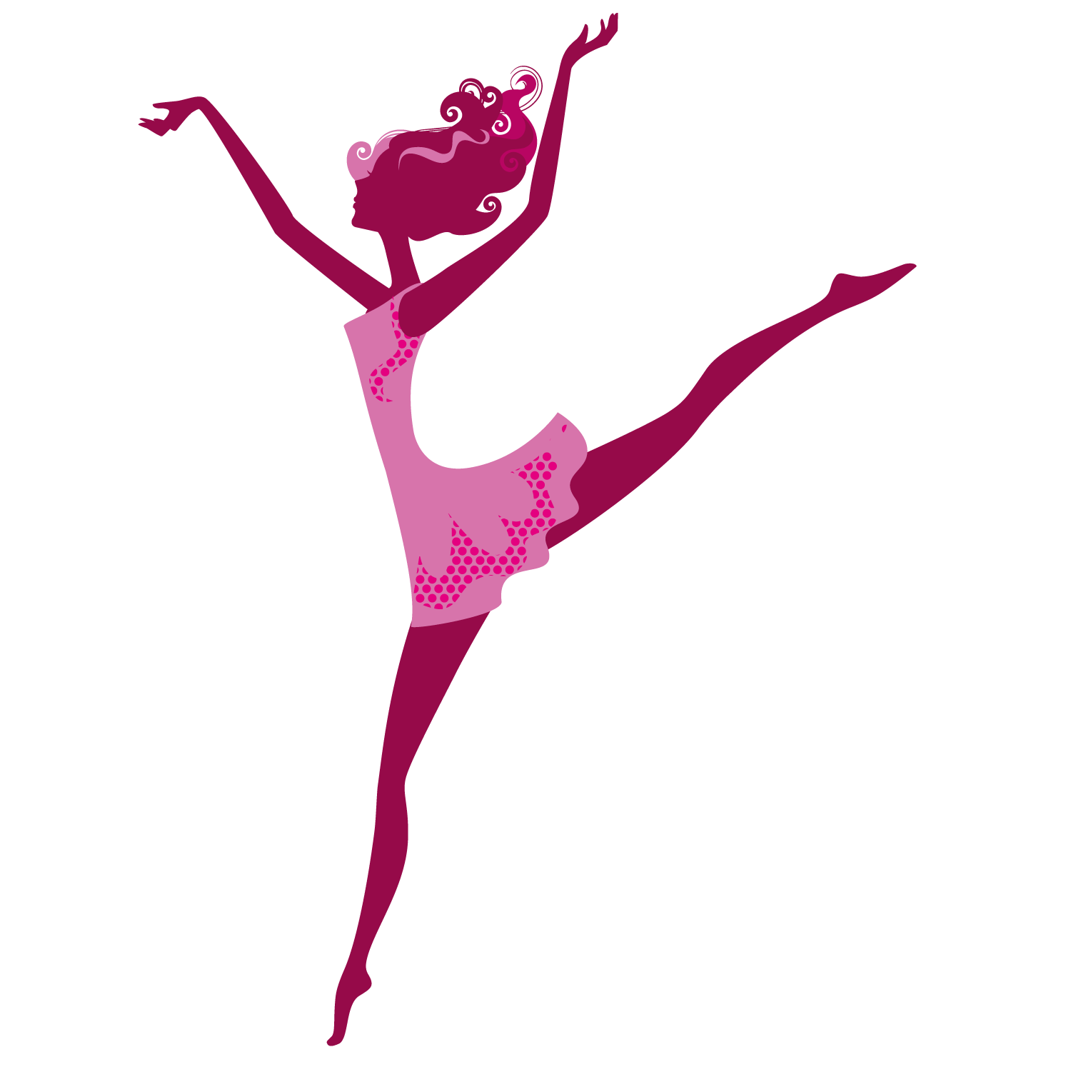 1500x1501 Dance Girl Silhouette