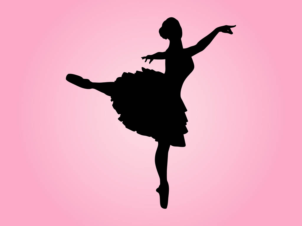 1024x765 Dancing Ballerina Silhouette Free Vectors Ui Download