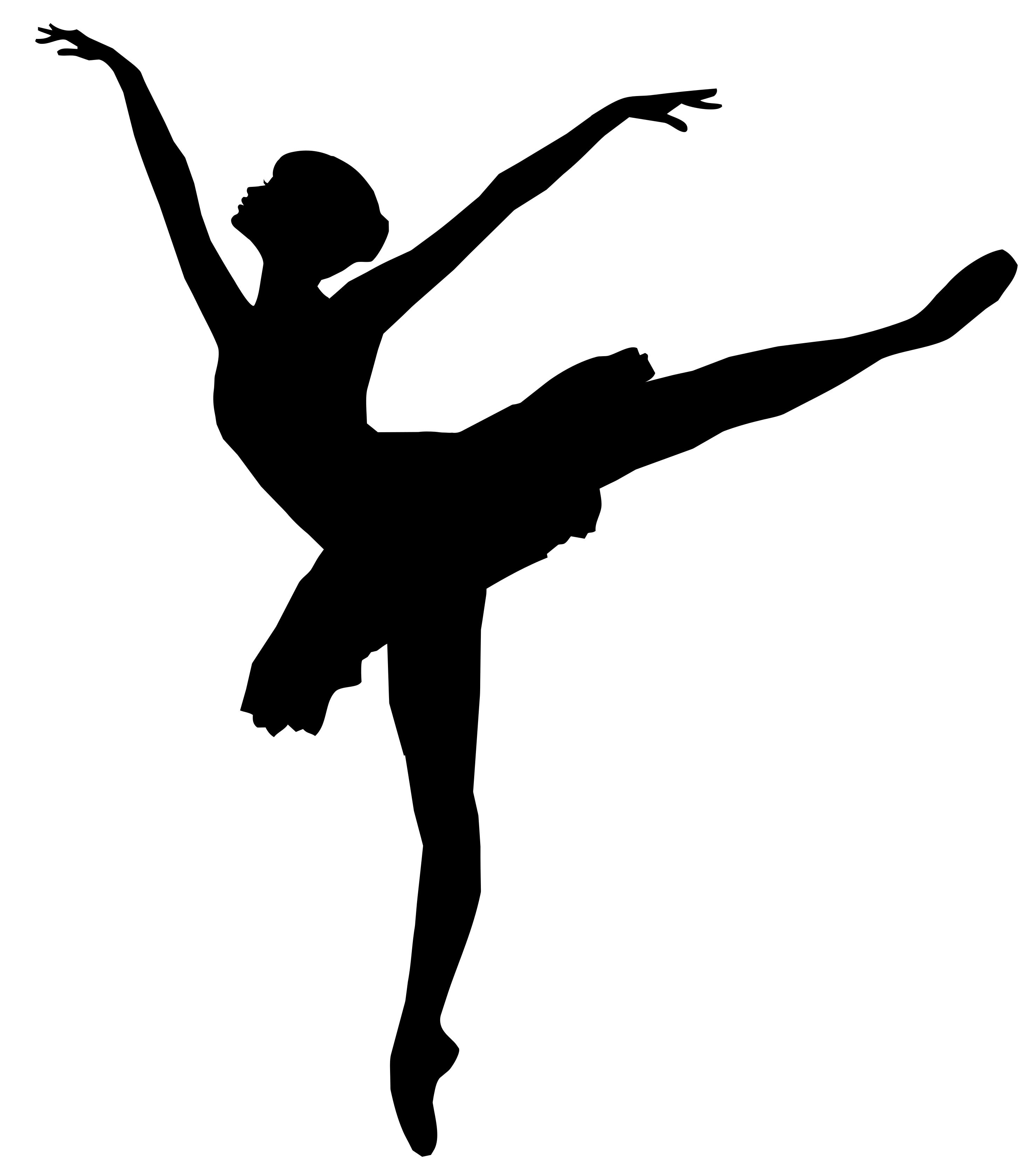 2956x3332 Graceful Ballerina Silhouette Clipart