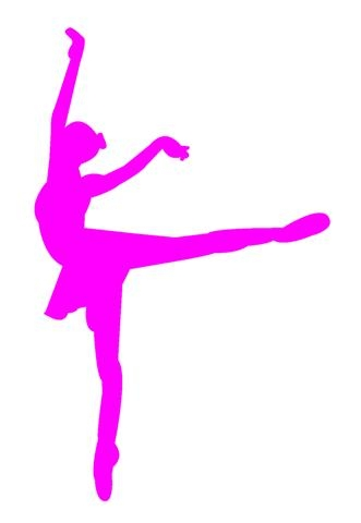 331x480 Ballet Dancer Silhouette 3 Decal Sticker