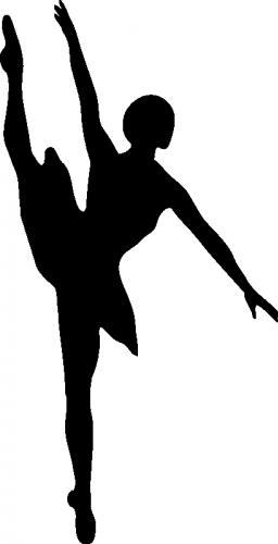 256x500 Silhouette Vector Clip Art Of Ballet Dancer Public Domain