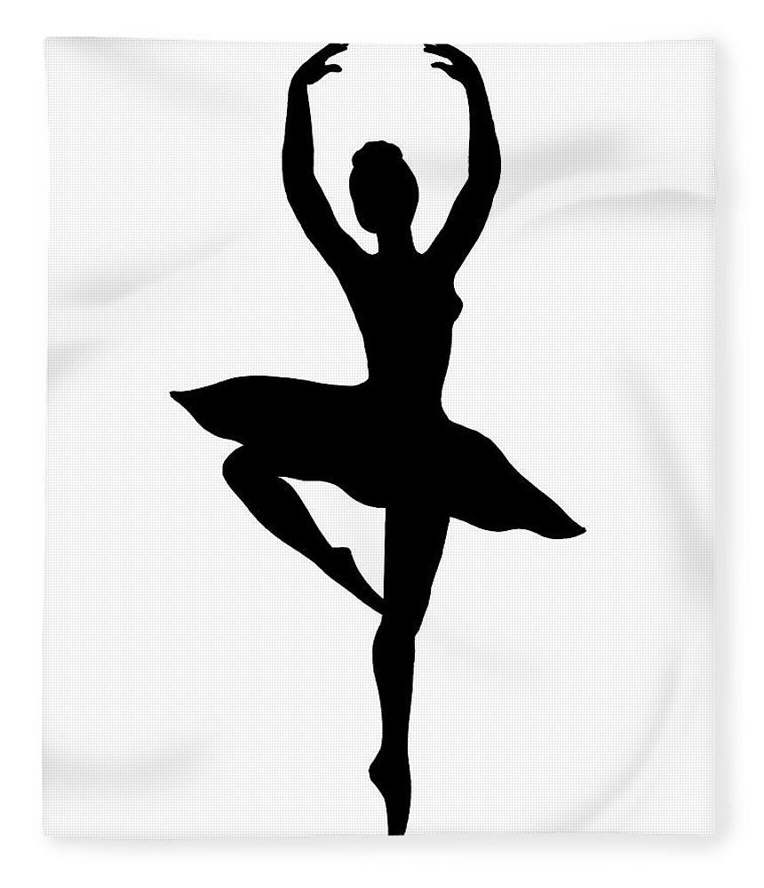 860x1000 Spinning Ballerina Silhouette Fleece Blanket For Sale By Irina