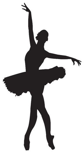 290x530 Take Some White Or Pink Card And Draw The Outline Of A Ballerina