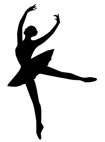 448x605 Ballet Silhouette Mallie Silhouettes, Ballerina