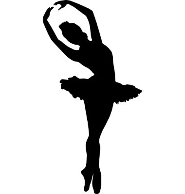 380x400 Ballet Slippers Ballerina Shoes Child Silhouette Die Cut For Scrap