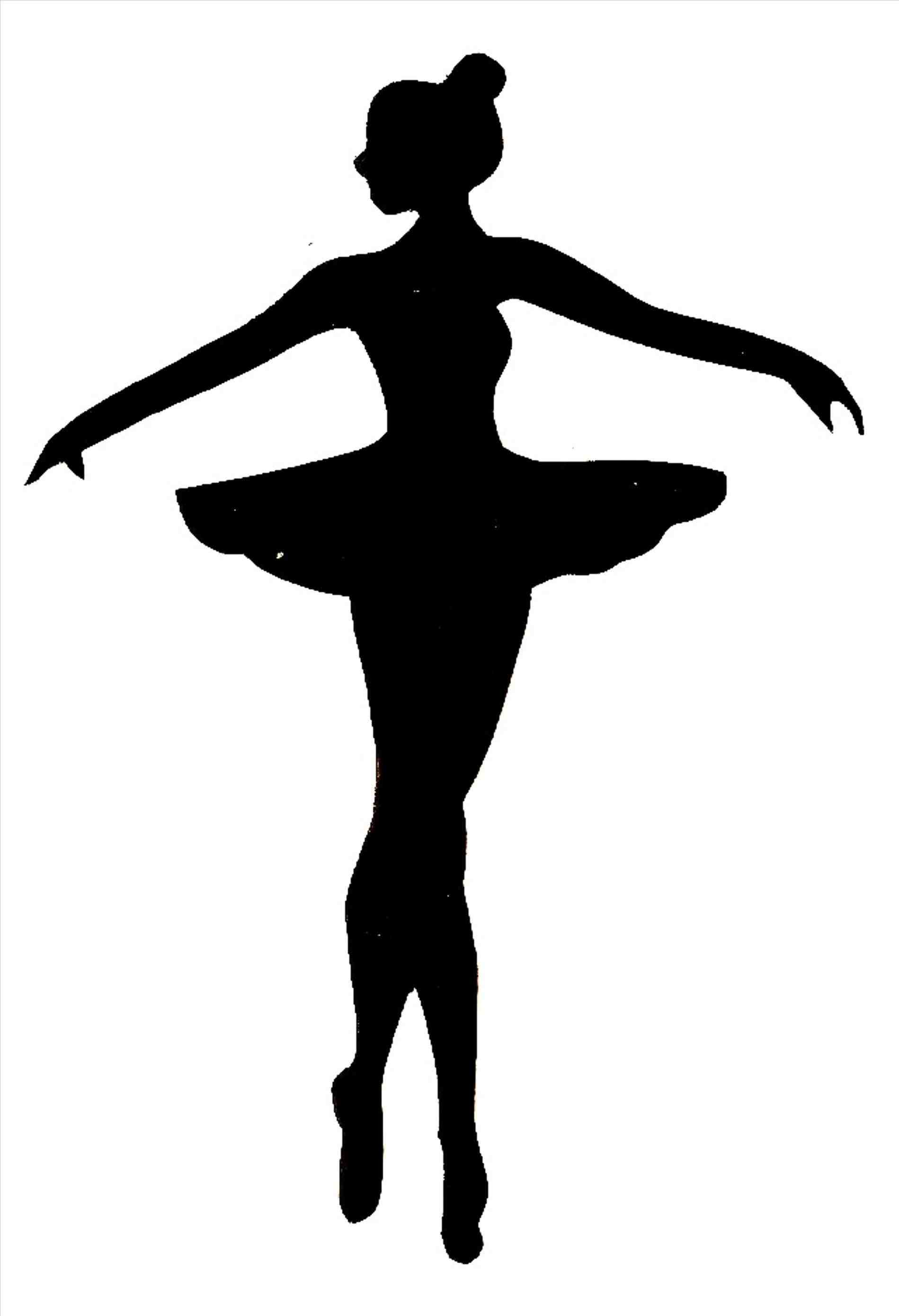 1899x2780 Ballerina Shoes Silhouette