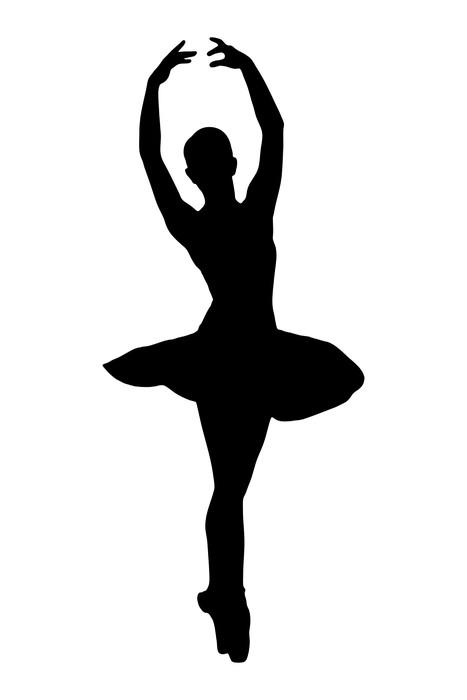 467x700 A Silhouette Of A Ballerina Dancer Making A Ballet Wall Mural