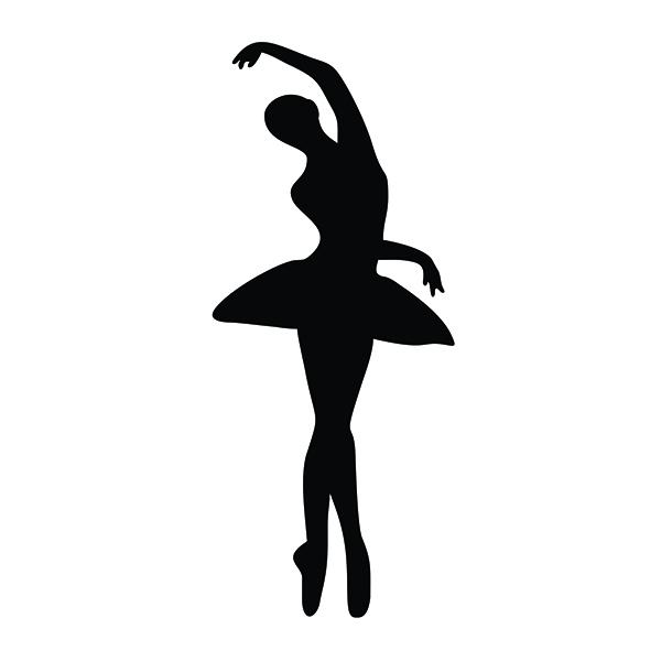 600x600 Ballet Dancers Silhouette Cuttable Design