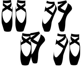 340x270 Ballet Shoes Clipart Etsy