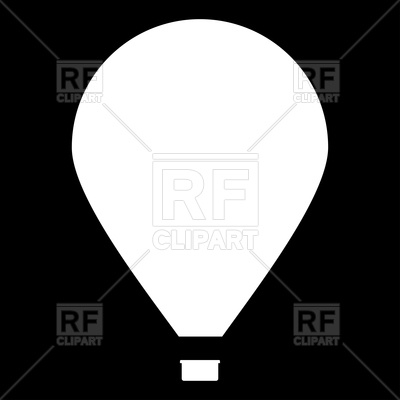 400x400 Hot Air Balloon Silhouette Royalty Free Vector Clip Art Image