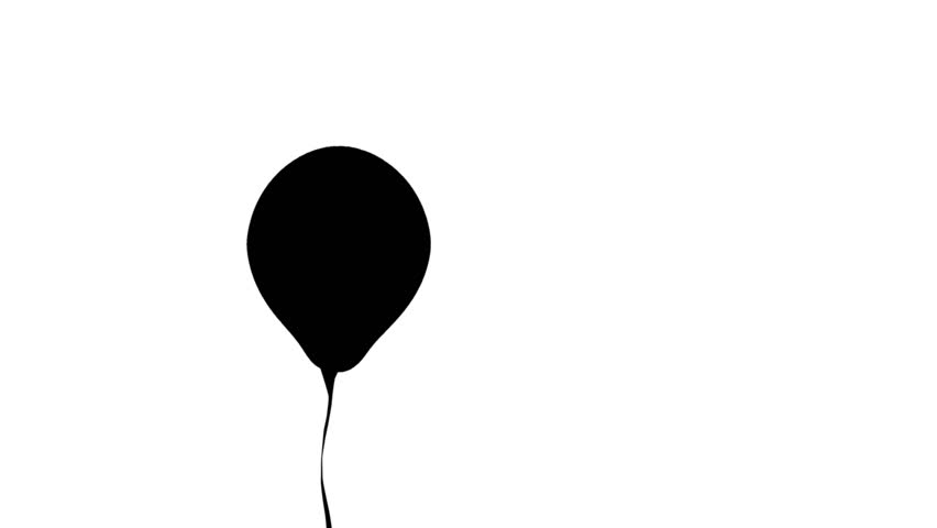852x480 Multiplying Balloon Going Up Black Silhouette Of A Balloon