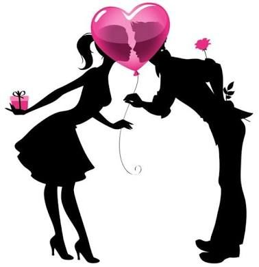 378x389 Image Result For Pictures Of Silhouette Paintings For Valentines