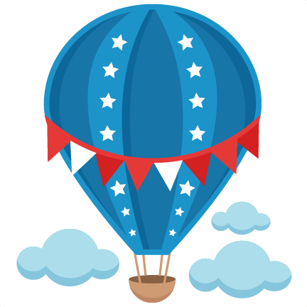 432x432 Patriotic Hot Air Balloon Svg Scrapbook Cut File Cute Clipart