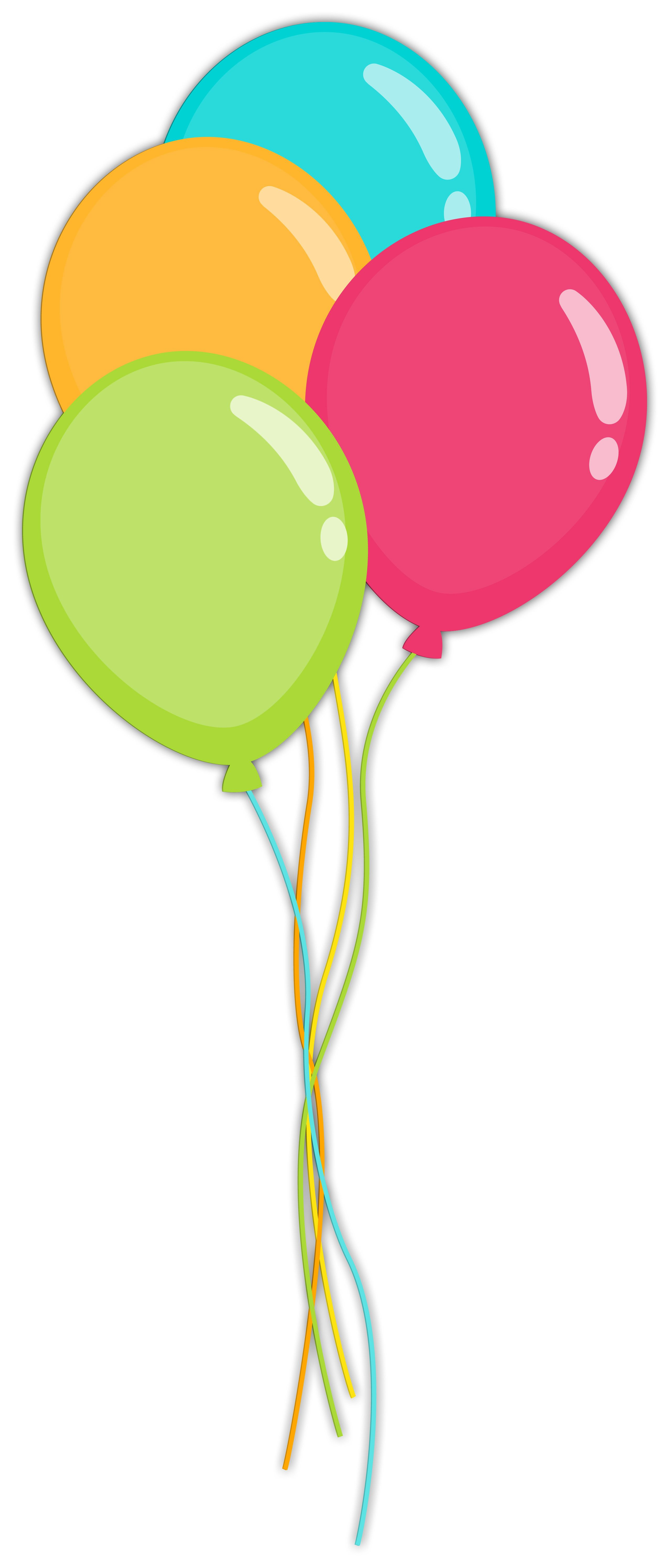 2549x5981 Balloons Clip Art Clip Art