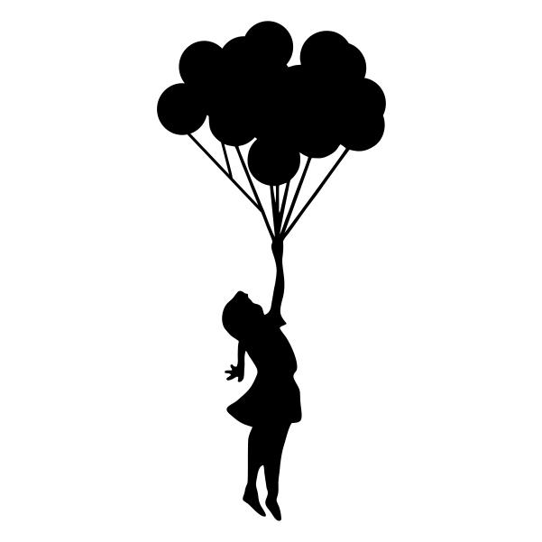 601x601 Balloon Clipart Silhouette