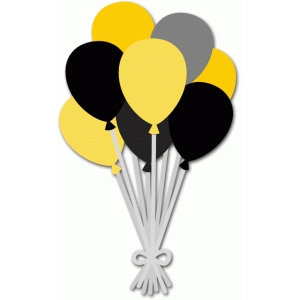 300x300 Black Amp Yellow Balloons. Silhouette Design Store