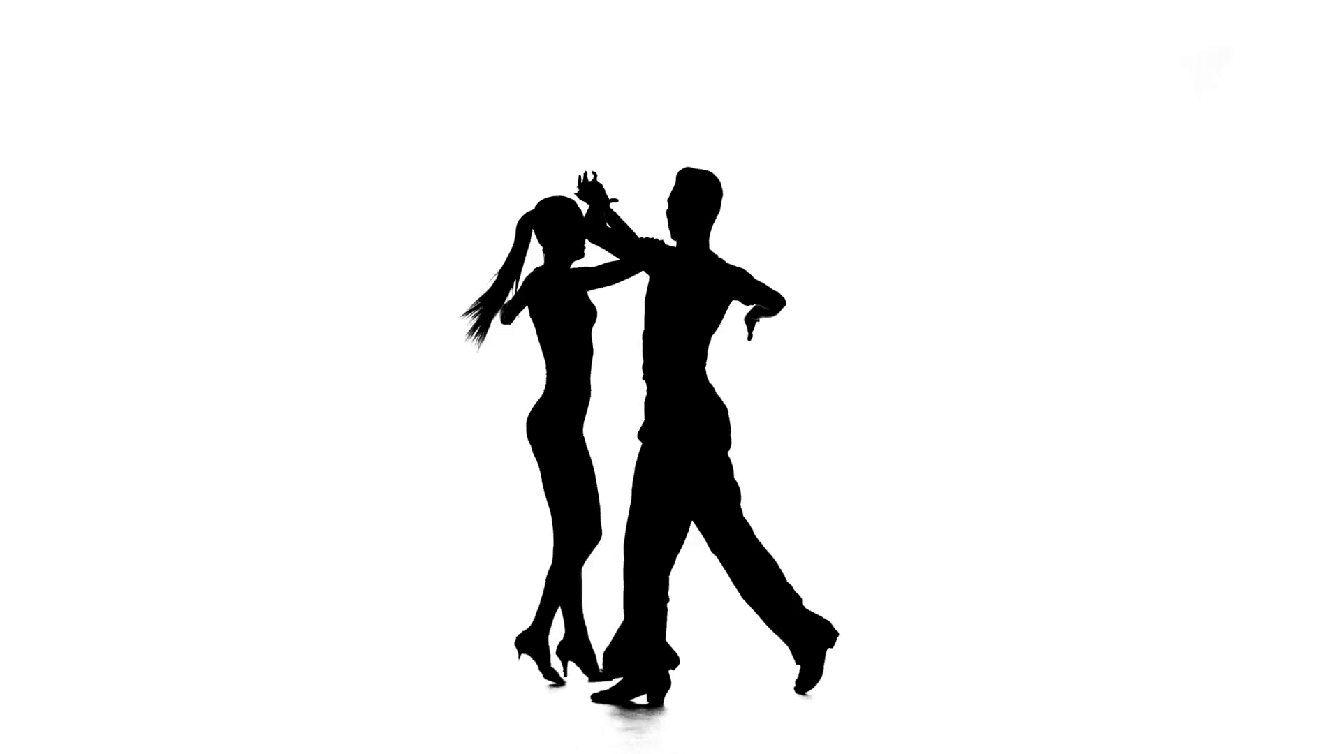 1920x1080 Dance Element From The Latino, Silhouette Couple Ballroom. White