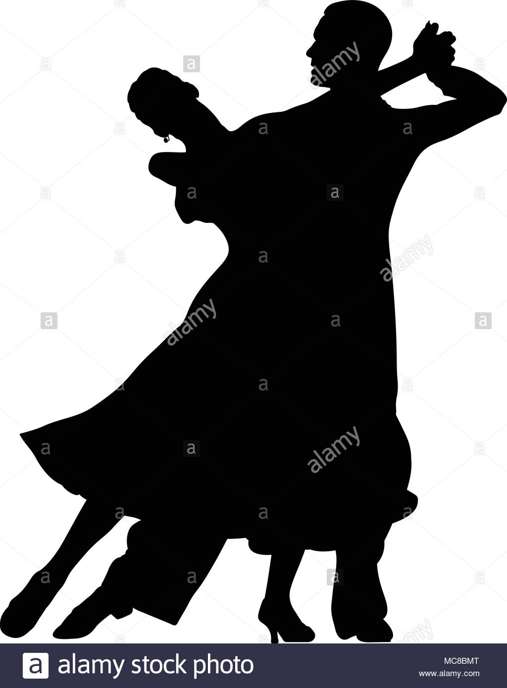1024x1390 Ballroom Dancing Black Silhouette Pair Women And Men Dancer Stock