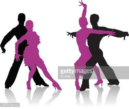 450x381 Ballroom Dancers Silhouettes Premium Clipart