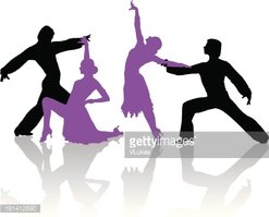 247x199 Silhouettes Of Couple Dancing Ballroom Dance Stock Vectors