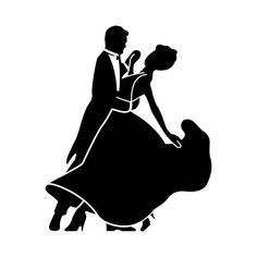 Ballroom Dancing Couple Silhouette