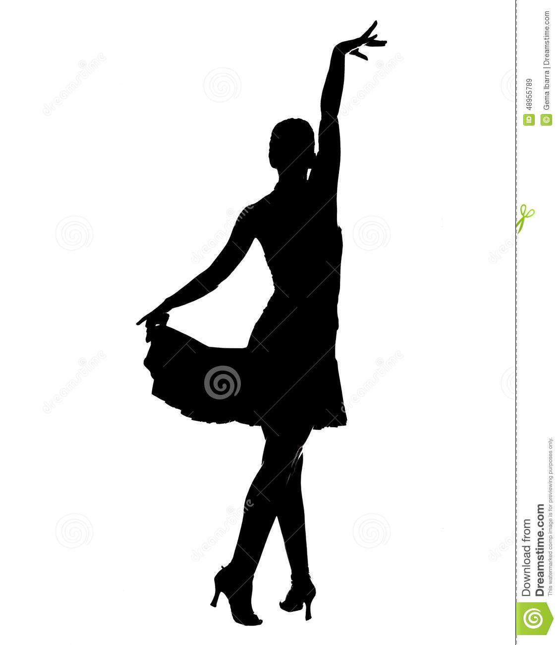 1130x1300 Latin Dancer Silhouette Stock Illustration