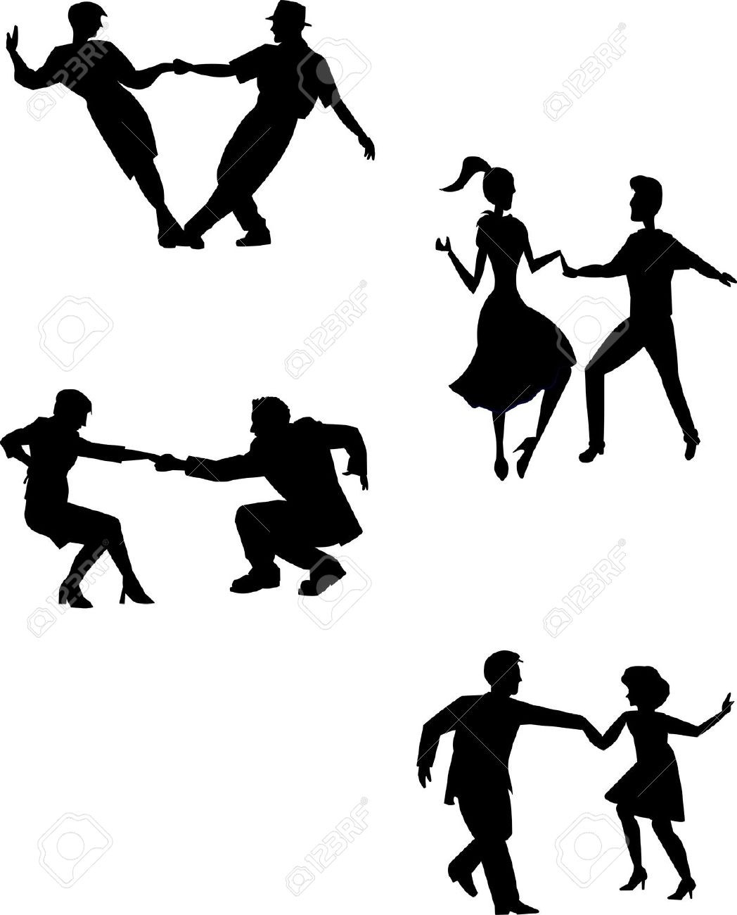1048x1300 Swing Dance Silhouette Ballroom Dancing Assiettes Tearing