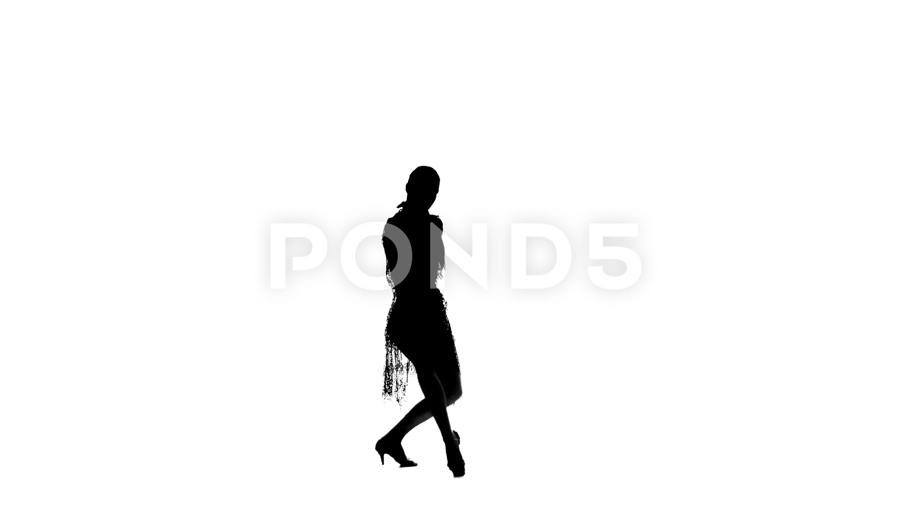 3840x2160 Video Solo Woman Is Dancing Elements Of Ballroom Dancing