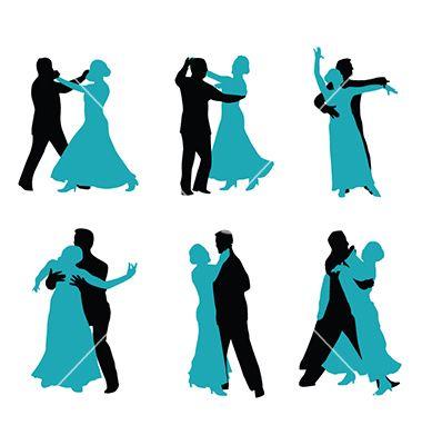 380x400 Couple Ballroom Dancing Silhouette Vector By Nezezon