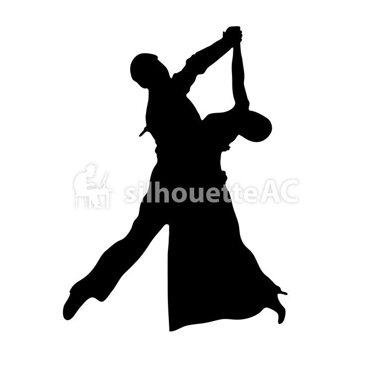749x750 Free Silhouette Vector 2, 2 People