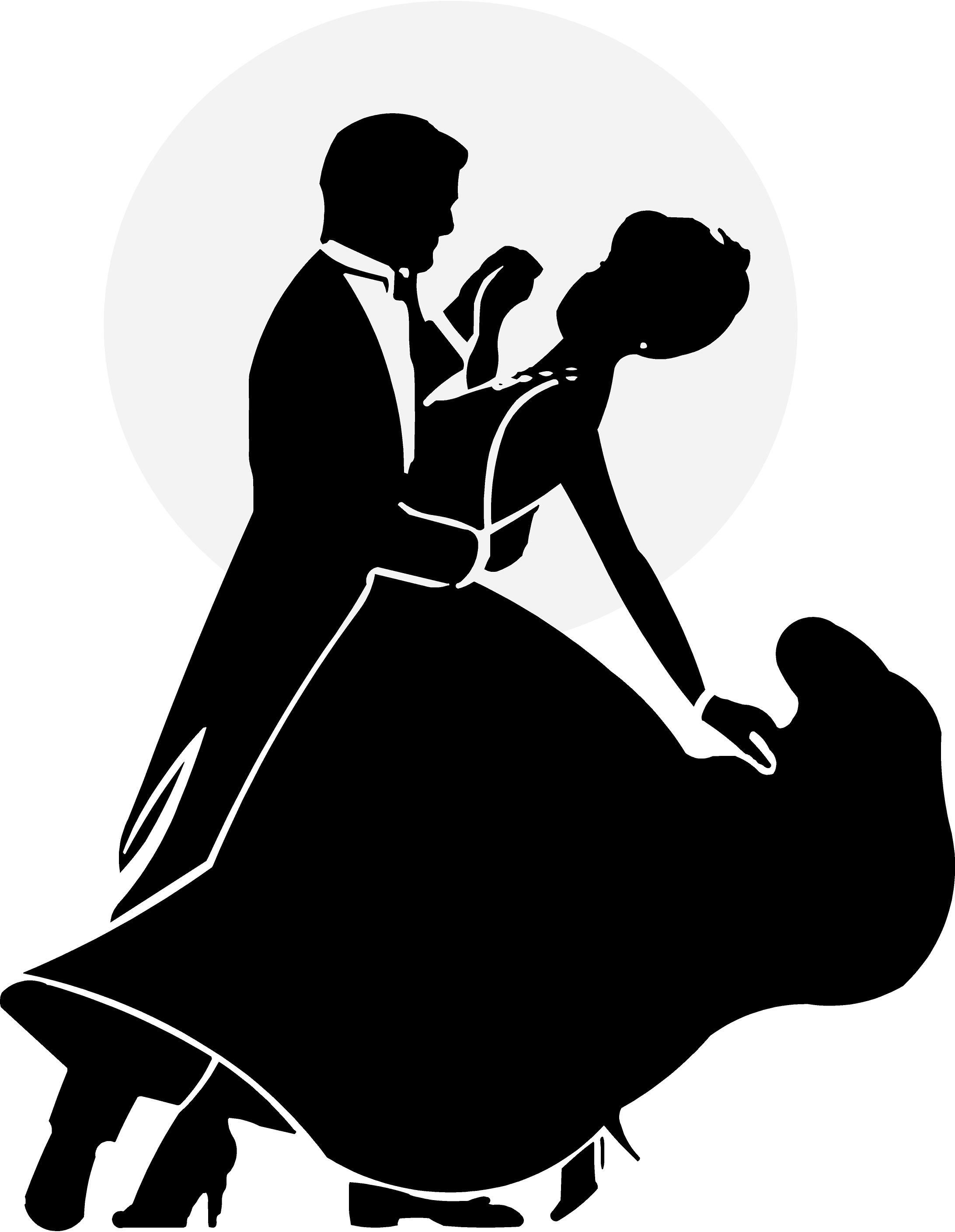 2184x2818 Silhouette Illustration Of Young Couple Ballroom Dancing Stock
