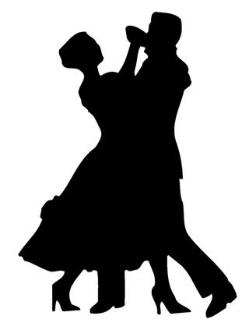 249x330 Ballroom Dancers Silhouette Decal Sticker