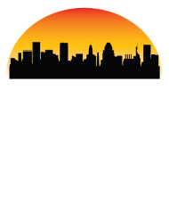 190x228 Sunset Skyline Silhouette Of Baltimore Md By Awesome Shirts