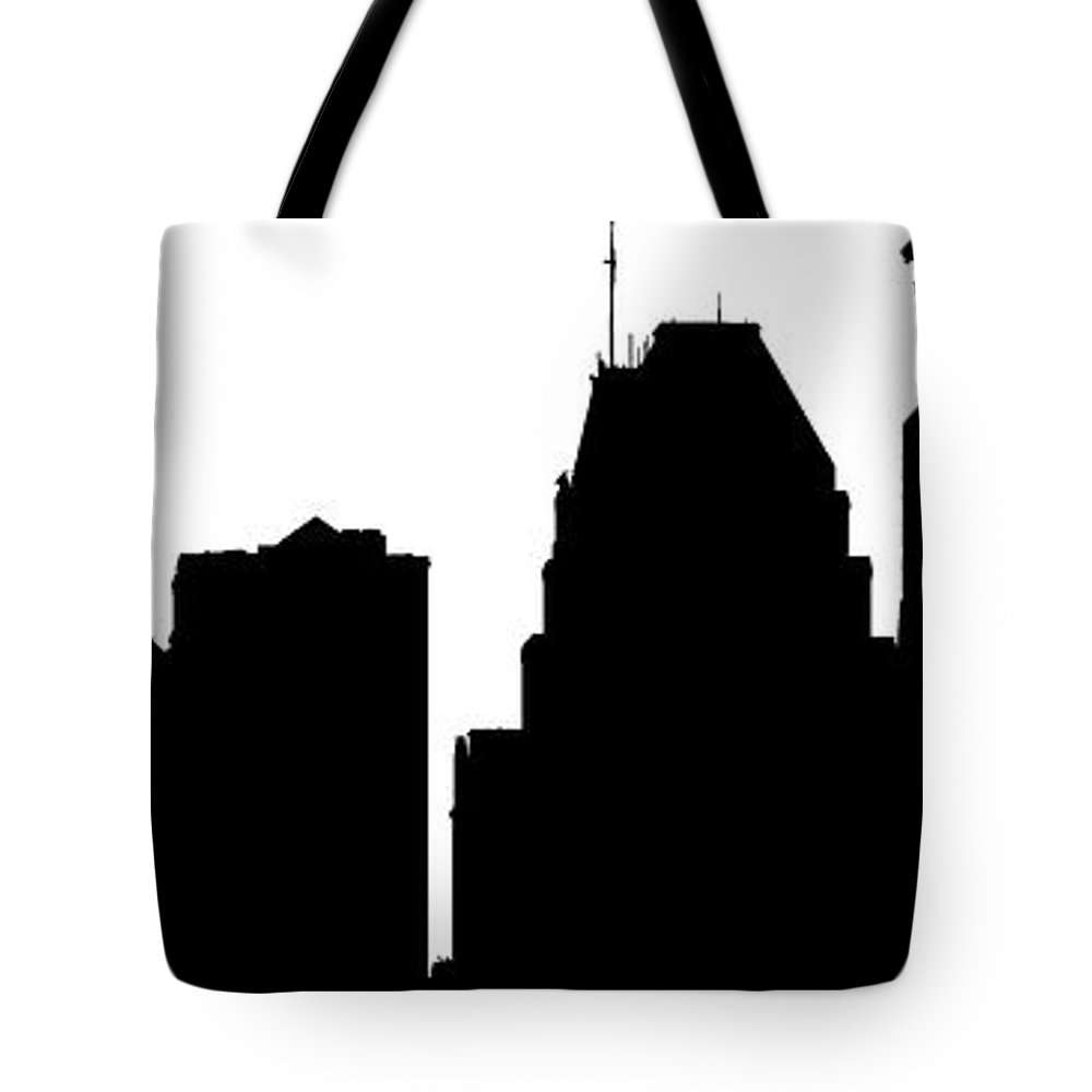1000x1000 Baltimore Skyline Silhouette Tote Bag For Sale By William Bartholomew