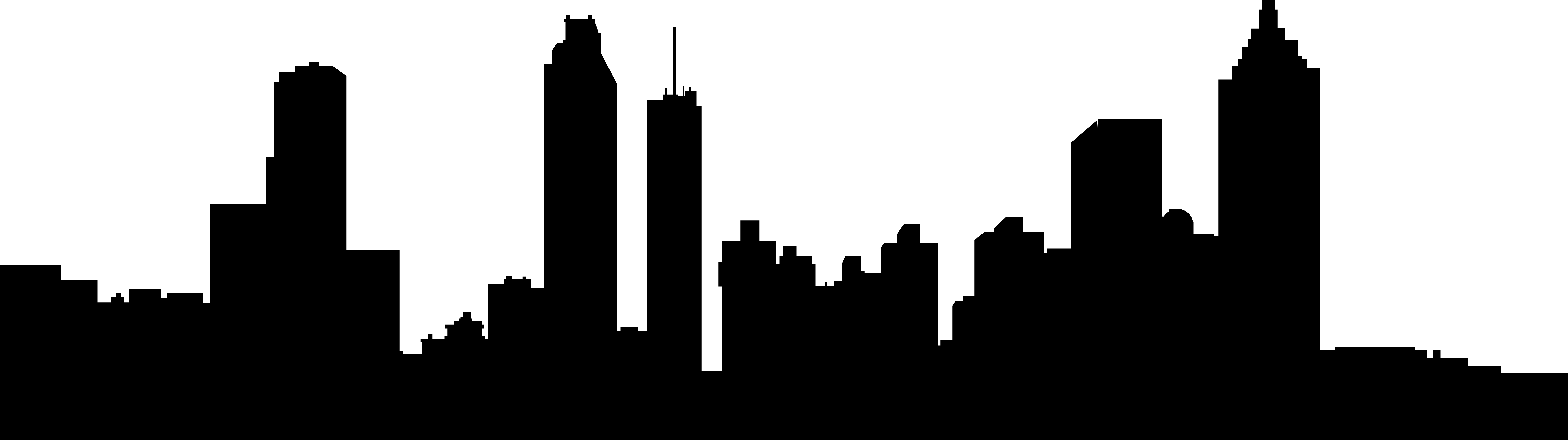 8059x2261 City Skyline Clipart Png