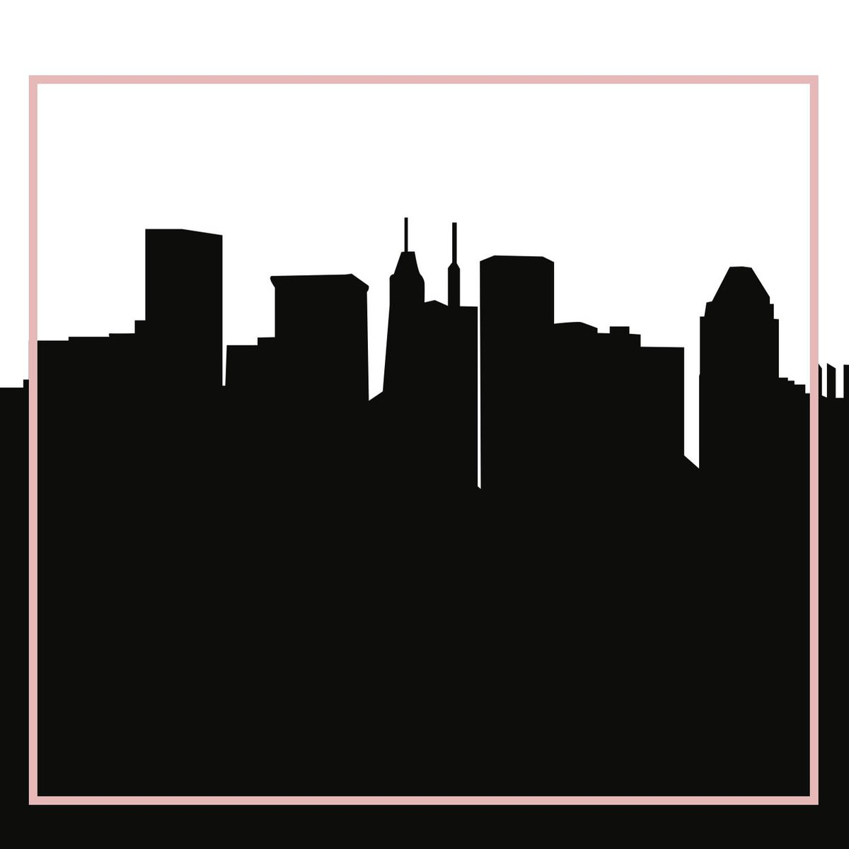 1200x1200 Baltimore, Maryland Skyline Silhouette Cityscape Purses
