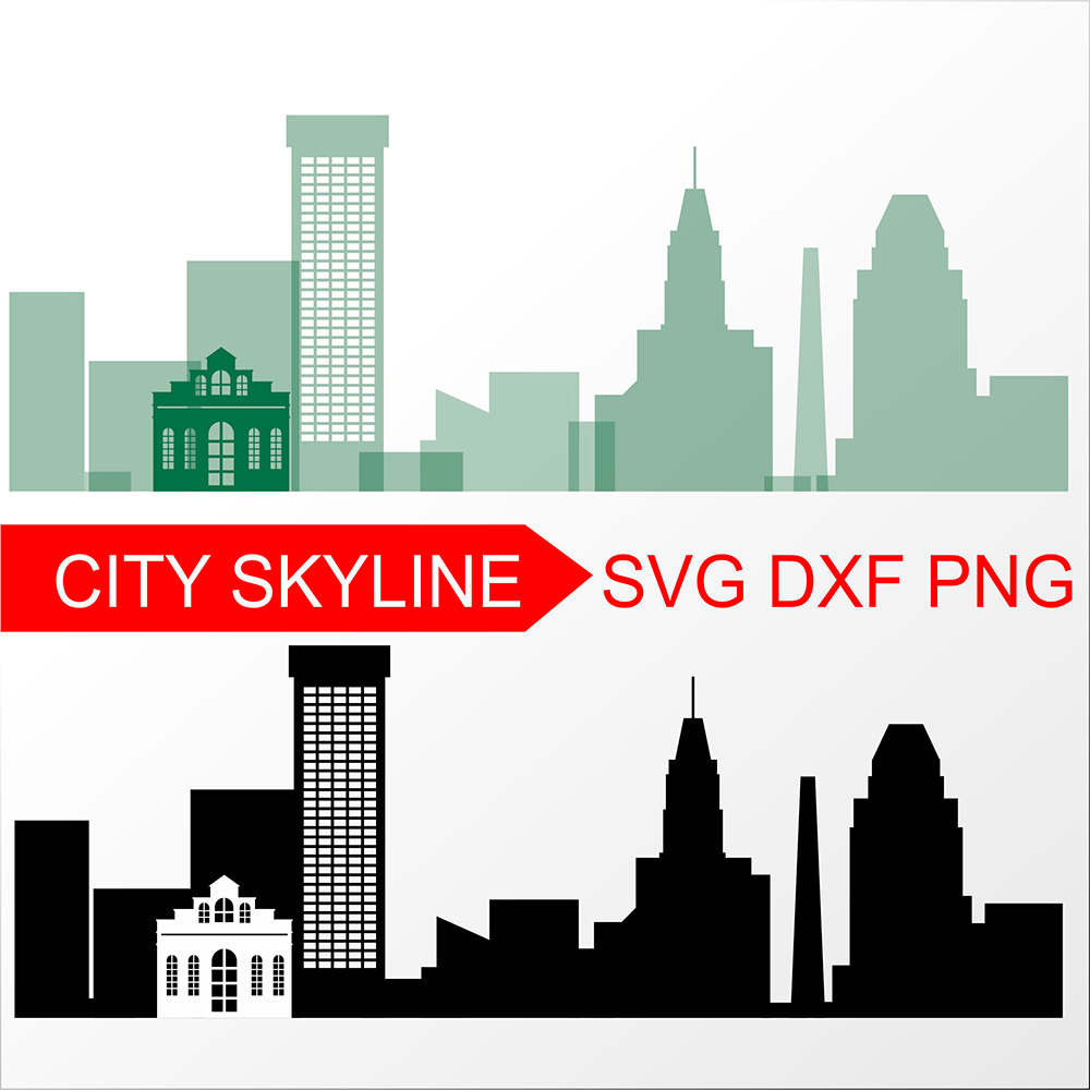 1000x1000 Baltimore Svg Vector Skyline Baltimore Silhouette Svg Dxf